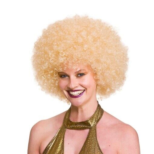 Oversized Afro Wig Black//Brown//Blonde//Ginger Big Hair Wig 70s 80s Fancy Dress