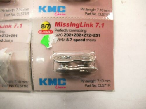 KMC MISSING LINK 7.1 KMC Z92 Z82 Z72 Z51 SRAM 8-7 SPEED CHAINS CLOSEOUT