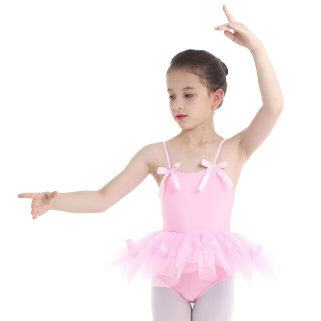 Kids Girl Ballet Dress Gymnastics Long Sleeve Leotards Tutu Wrap Skirt Dancewear