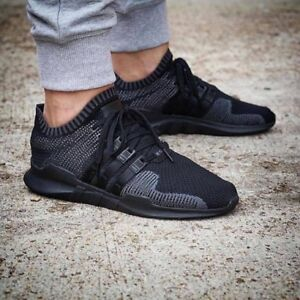hot sale online 463f8 070f6 Details about adidas EQT Equipment Support adv PK Primeknit  Black/Black/grey [CM7191] UK 8.5