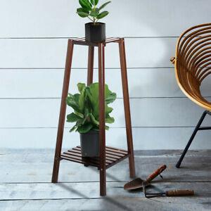 Flower-Shelf-2-Tier-Bamboo-Plant-Stand-Planter-Rack-Pots-Holder-Disply-Rack-Lot