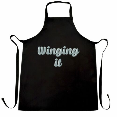 Details about  /Novelty Student Chef/'s Apron Winging It Slogan Laid Back Lazy Casual Joke Gift