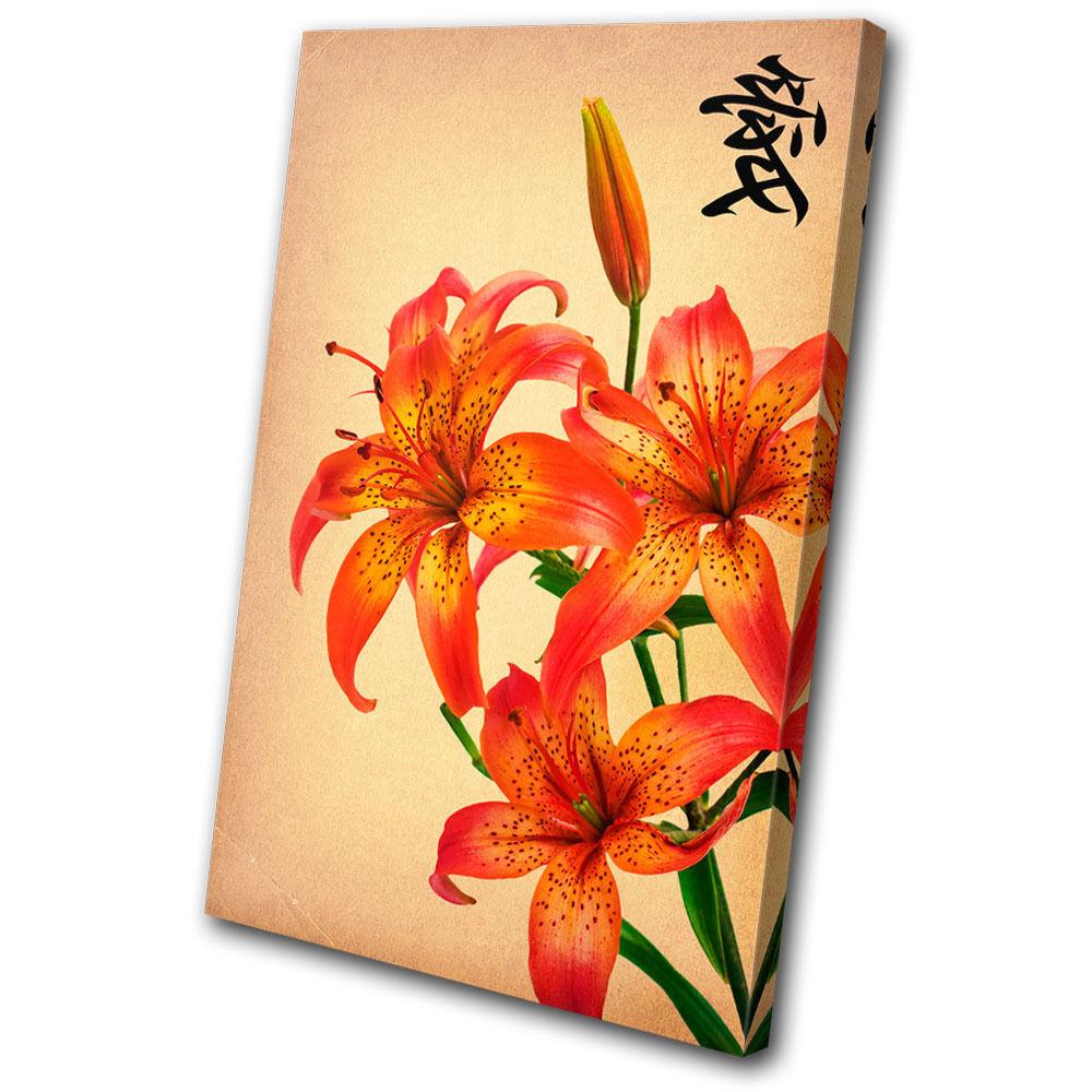 Floral Japanese Flowers  SINGLE LONA pa rojo  Flowers arte Foto impresion fc5548