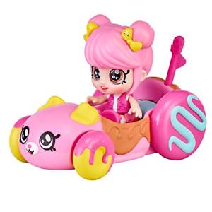 Kindi Kids Minis - Donatina's Car- Collectible Vehicle and Posable Bobble Head