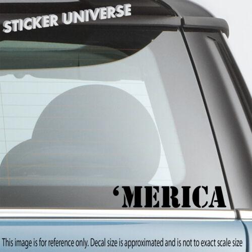 MERICA Patriotic Car Window Decal Bumper Sticker JDM America Murica /'Merica 0698