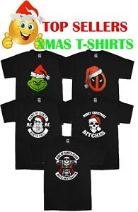 Christmas T-Shirts Funny t shirt Xmas Dead pool Grinch Humbug Gift ... 08aa4be97