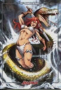 Red Sonja 45th Anniversary Line Art By Marco Santucci Chase Card 2 Of 3