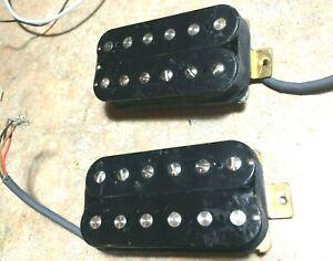 Two-Vintage-early-1980s-GOTOH-Japan-4-Lead-Humbucker-Guitar-Pickups-9-5k