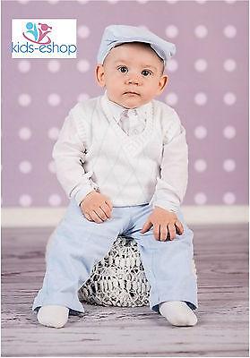 Focoso Bambino Bianco Blu Smart Top Vestito Battesimo Festa Natale Neonato 18m-mostra Il Titolo Originale