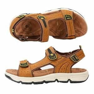 2a93209d59288 Details about CAMEL CROWN Men's Summer Leather Sandals Strap Athletic Shoes  Outdoor Beach