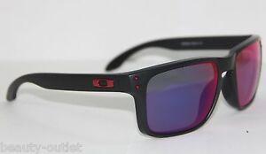a4ca84f513 Oakley Sunglasses HOLBROOK 9102-36 Black Red Iridium MIRRORED OO9102 ...