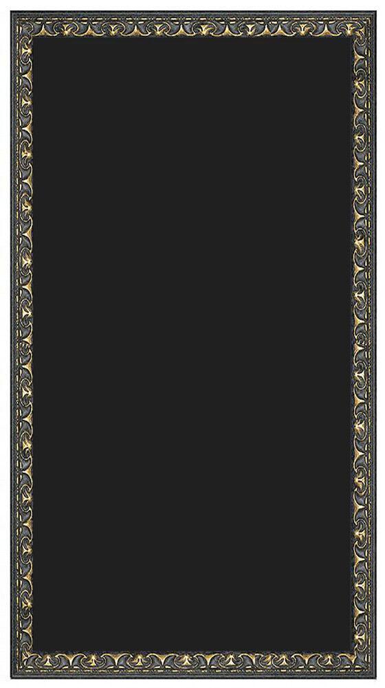 Kreidetafel nach Maß - Gold Schwarz Barok Holzrahmen -Tafel Schreibtafel Schwarz