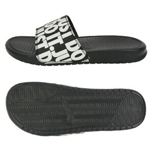 Details about Nike Benassi Just Do it Print Slides (631261 024) Sports Sandals Slippers
