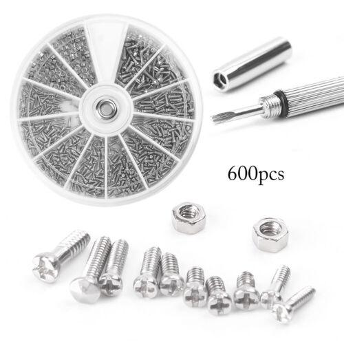 tournevis # 600PCS 12 genre Petite Vis Noix Assortiment Kit M1//M1.2//M1.4//M2.5