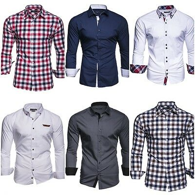 Shoppen Sie Kayhan Herren Hemd, TwoFace Hellblau S auf