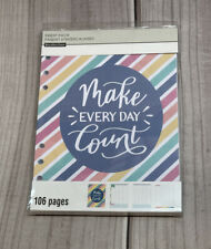 Recollections Planner Organizer Insert Pack 106 Pages Make Every Day Count