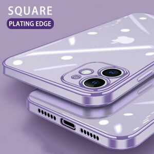 For-iPhone-12-11-Pro-Max-X-8-7-Electroplate-Silicone-Ultra-thin-Clear-Soft-Cover