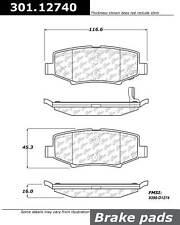 Disc Brake Pad Set-Premium Ceramic Pads with Shims Rear Centric 301.19160