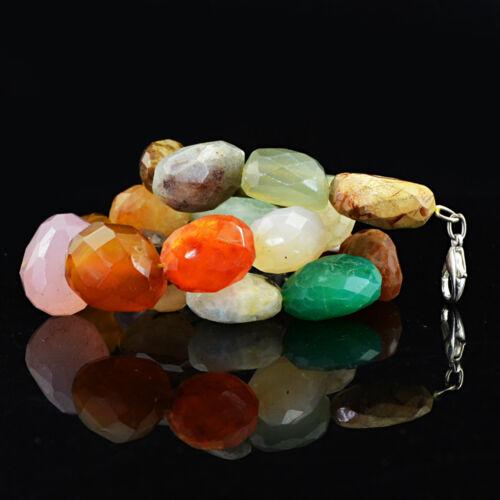 657.50 Cts Naturel Non Traité multicolore multi Gemstone Faceted Beads Collier