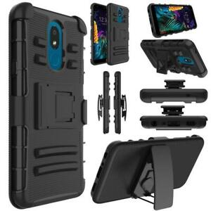 NEW Shockproof Stand and Swivel Belt Clip Holster Hybrid Case For LG Escape Plus
