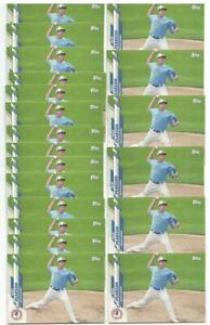 x20 NATE PEARSON 2020 Topps Pro Debut Minor League #58 Rookie Card lot Blue Jays