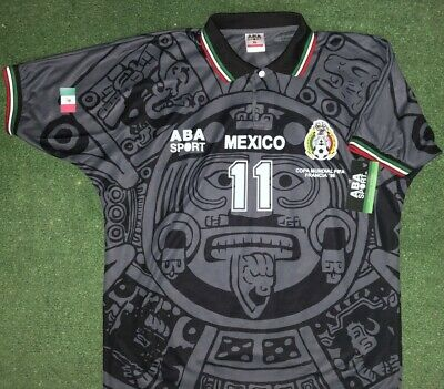 ABA Sport Mexico Black Authentic Gala Edition 1998 World Cup Soccer Jersey