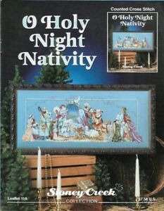 O-Holy-Night-Nativity-in-Counted-Cross-Stitch-Stoney-Creek-Leaflet-114-1st-Print