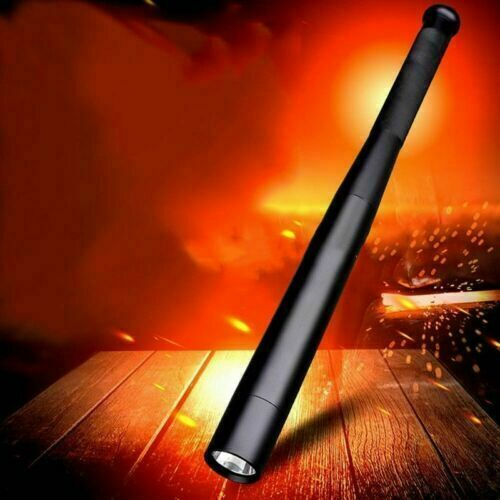 Black Baseball Bat LED Flashlight Cree W// Waterproof Security Bright Torch lmky