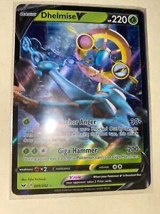 Ultra Rare Pokemon Card Dhelmise V 009//202 Sword /& Shield Set NM