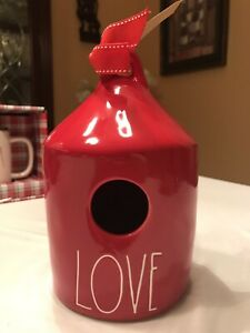 Rae-Dunn-2019-Red-LOVE-Birdhouse-LL-NEW-HTF