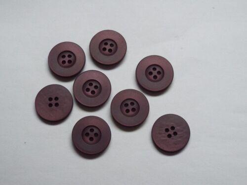 8pc 20 mm Ciruela Acabado Mate 4 agujero botón 1376