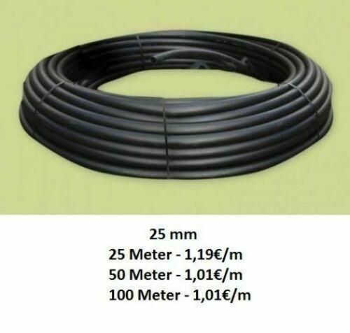 PE Pipe Water Pipe Ø 25mm x 2mm Garden Hose 1m 100m Hose Garden