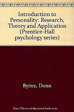 Introduction to Personality : Research, Theory, and Applications-ExLibrary