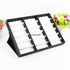 Storage Display Grid Stand Case Holder for 18 Eyeglass Sunglasses Compartment