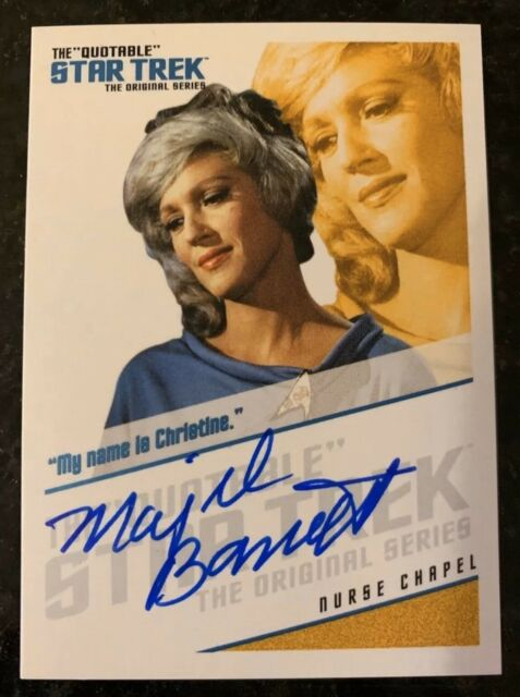 Star Trek TOS Quotable Autograph Card QA6 Majel Barrett Nurse Chapel