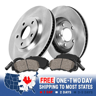 2006 2007 2008 2009 VW Rabbit OE Replacement Rotors w//Ceramic Pads F+R