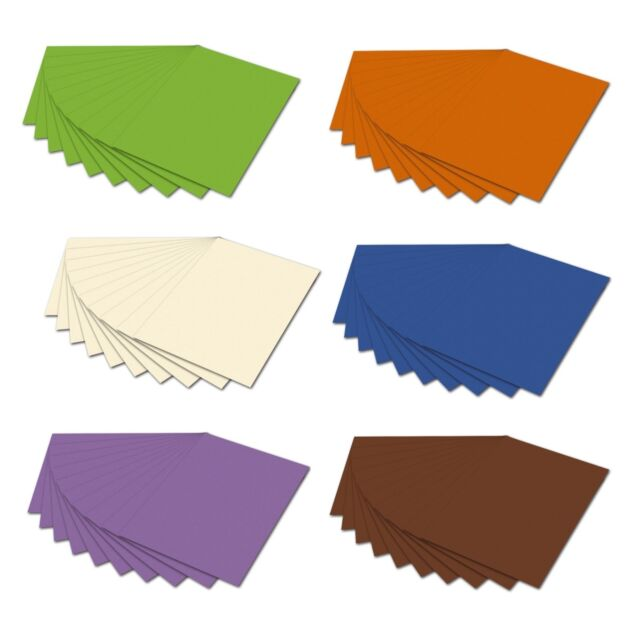 Tonpapier DIN A4 130g/qm Tonzeichenpapier Tonkarton Bastelkarton basteln farbig
