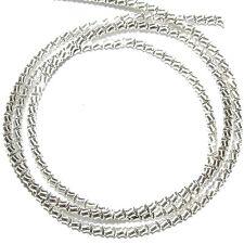 "WC348f French Wire Silver-Finish Zig-Zag 1mm Bullion Jewelry Component 13""/pkg"