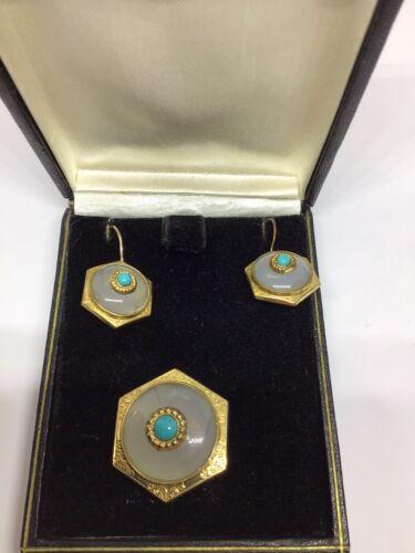 Design: Prof noble porcelain brooch Klaus Dombrowski Hutschenreuther Germany ART Brilliant blue and gold on white Enchanting VINTAGE