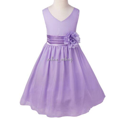 Fleur Fille Princesse Robe Toddler Anniversaire Mariage Fantaisie Parti Prom Robe Tutu