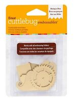 Cricut Cuttlebug Being A Boy - Gold Embossables Metal Shapes