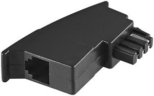 Telefon-Modular-Adapter-TAE-F-Stecker-auf-RJ-11-Buchse-Modularkupplung-6P4C
