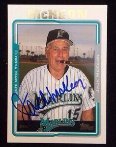 JACK-MCKEON-2005-TOPPS-Autographed-Signed-Baseball-Card-278-MARLINS-MANAGER