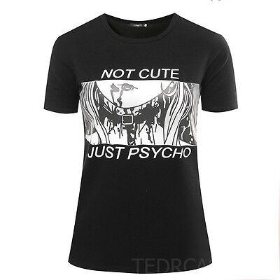 Not Cute Just Psycho T-Shirt // Pastel Goth Vaporwave Grunge Tumblr kawaii anime