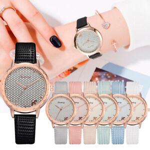 Новые модные повседневные женские часы пчела домашняя циферблат кожаный ремешок ремешок женские часы