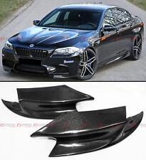 2 PIECE R STYLE CARBON FIBER FRONT BUMPER SPLITTERS LIP FOR 2012-2015 BMW F10 M5