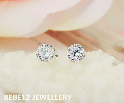 0.4CT Simulated Diamond Stud Earring//White gold//RGE617