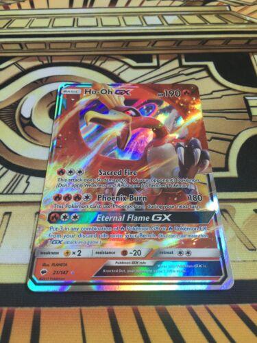 Pokemon Ho-Oh GX Burning Shadows 21//147 Near Mint