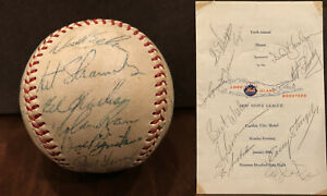 Mets-Signed-Baseball-1968-Team-Nolan-Ryan-Program-Tom-Seaver-Casey-Stengel-JSA