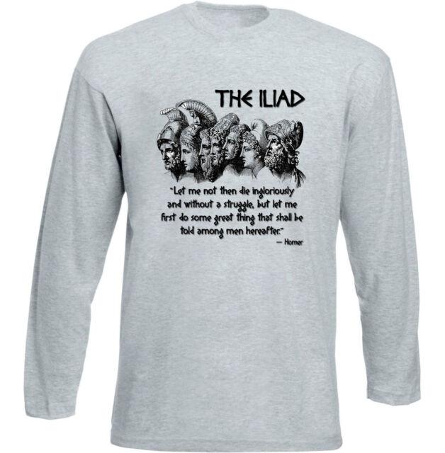 La Ilíada Homero-nueva Camiseta Algodón Gris